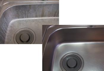 キッチンの水垢をサクッと除