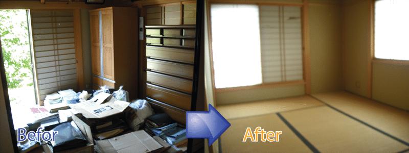 不用品回収をはじめ遺品整理、ごみ屋敷の片付け、特殊清掃までお任せください。